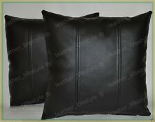 New Genuine Soft Lambskin Pure Leather Pillow Cushion Cover All sizes PS23
