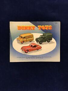 Catalogue Dinky Toys USA 1954 Hudson Dobson Hobby House Providence w Price List