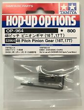 Tamiya 53964 48 Pitch Pinion Gear (16T, 17T) (DB01/TRF511/TRF501X) NIP