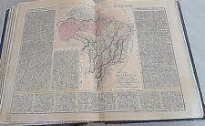 OLD PRINT BRAZIL ANTICA CARTA  BRASILIANO MAPPE BUCHON 1843 - LE SAGE 12/17
