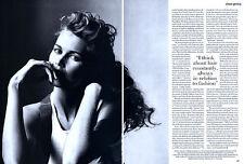 1994 Irving Penn Claudia Schiffer magazine editorial - Shear Genius Hair