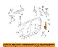 Rocker Floor-Upper Filler Right 13270566 Buick GM OEM 11-17 Regal Pillars