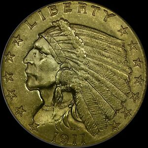 1911 $2.50 Indian Gold Quarter Eagle NGC MS63 no-line fatty rare old type coin