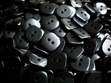 14mm 22L Square Black 2 Hole Polished Sewing Craft Children Button Buttons W524