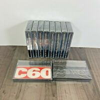 10 x C60 BASF FERRIC LHD VINTAGE CASSETTE TAPES  SEALED NEW OLD STOCK BUNDLE
