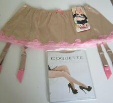 Shirley of Hollywood Beige satin & lace garter belt set Size 1X Style 20507