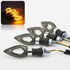 4x Silver LED Turn Signal Amber Light for Suzuki GS 450 500 550 650 750 850 1000