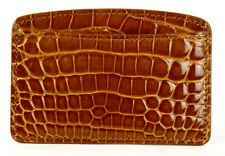 LOUIS VUITTON Caramel Brown Shiny Alligator Skin Card Holder Wallet