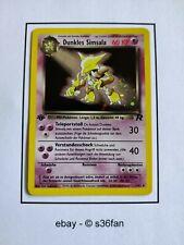 Pokemon Karte Dunkles Simsala 18/82 Team Rocket Holo 1. Edition Deutsch