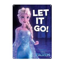Genuine Disney Frozen Elsa Let It Go Small A5 Steel Sign Tin Wall Door Plaque