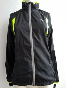 Ultra Sport Ladies Stretch Delight Running biking jacket, Black / Neon Yellow, X