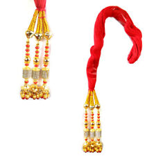 Bollywood Red Paranda Parandi Hair Accessory Braid Tassles
