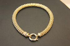 Armband 585 14K ECHT GOLD 20cm Geschenk Gelbgold Schlange Schmuck Damen Armkette