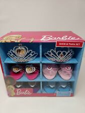 Barbie Shoe & Tiara Dress Up Set Includes 2 Crowns and 4 pairs of Shoes