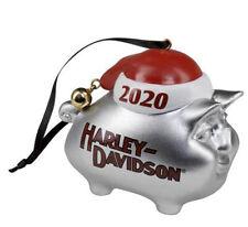 Harley-Davidson 2020 Dated Classic Hog Santa Hat & Bell Ornament HDX-99199