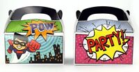 12pk Superhero  Treat Boxes Birthday Party Goody Loot Bag Favor Party Supplies