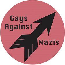 "GAYS AGAINST NAZIS STICKER - LGBTQ Licensed Original Artwork DECAL, 4"" x 4"""