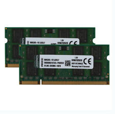 4GB 2X 2GB Kingston Kits PC2-5300 DDR2 667MHz For Mac Laptop Memory RAM SODIMM #