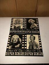 Stars Of The Silver Screen postcard Marilyn Monroe movies cinema Lot Of 4