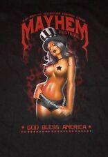 New MAYHEM FESTIVAL 5th Annual 2012 Rockstar Energy Drink pinup shirt 4X
