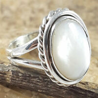 Mother of pearl 925 Sterling Silver Ring Women Gift Ring Christmas #Gift jewelry