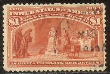 U.S. #241 Used - 1893 $1.00 Columbian ($525)