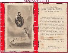 1953 SANTINO HOLY CARD MADONNA DEL CARMINE EB DEP. 664 MEDIOLANI ANTICO