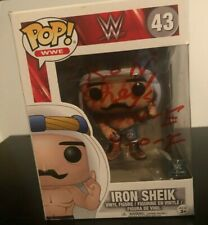 More details for iron sheik  -  hand signed funko pop  --  wwe / wwf  --  autographed