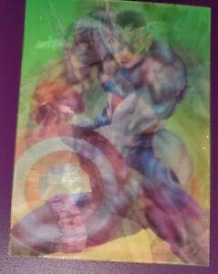 1996 Marvel Ultra Onslaught Mirage Avengers Lenticular Card 1 of 3 Capt. America