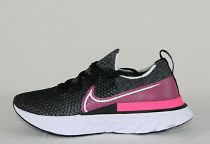 New Women's Nike React Infinity Run FK in Black/White-Pink Blast Colour Size 9
