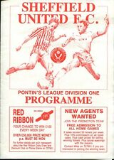 B30 Sheffield United v Aston Villa 05/10/89 Pontins League Division 1