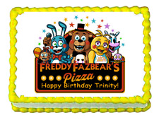 FNaF Five nights at Freddy's edible cake image cake topper party decoration
