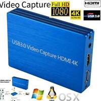 4K HDMI to USB 3.0 Video Capture Card Dongle 1080P 60fps HD HDMI Video Recorder