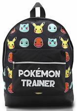 Mochila Pokemon Escolar Let?s Go Pikachu Charmander Bulbasaur para Niños Niñas
