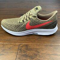 Nike Air Zoom Pegasus 35 Running Shoes Mens Sz 13 Parachute Beige Red 942851-201