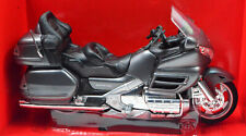 Honda Goldwing 2010 Gl 1800 Metallic Grey Motorcycle Model 1:12 From New Ray