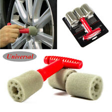 Car Lug Nut Wheel Cleaning Detailing Brush with Handle & Removable Insert Sponge