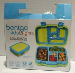 Bentgo Kids Brights Leak Proof 5 Compartment Bento Style Kids Lunch Box *Open*