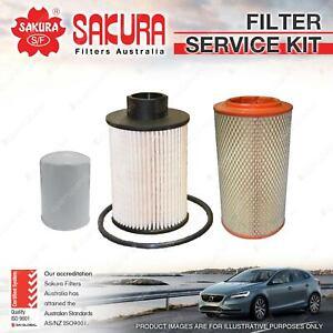 Sakura Oil Air Fuel Filter Service Kit for Fiat Ducato 2007 3.0L JTD 07-12