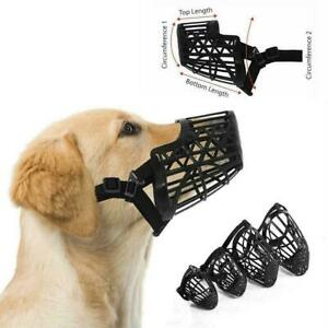 Basket Cage Dog Muzzle with Adjustable Straps Strong Duty Ho Flexible t X1R3