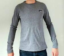 Mens Superdry Long Sleeved Top. Blue/Grey Marl.