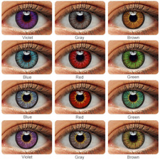2pcs/Pair Colorful Color IYE eye Eyes Lenses Eye Yearly For Dark eyes case Lens