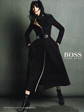 PUBLICITE ADVERTISING 114  2014  HUGO BOSS   haute couture  manteau femme