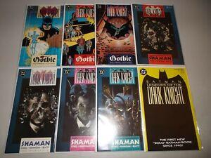 Batman: Legends of the Dark Knight #1-8 (1989 DC Series) Yellow Variant, Lot set