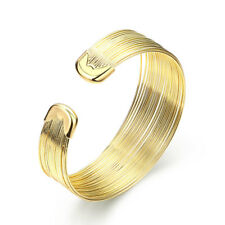 Yellow Gold Plated Bracelet Adjustable Size Bangle Clasp L169
