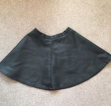 SIZE MEDIUM FOREVER 21 BLACK FAUX LEATHER SKATER SKIRT TOWIE/XMAS/PARTY/BOHO