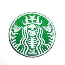 Funny Skeleton Helloween Starbucks Coffee Clothing Shirt Applique Iron on Patch