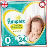 Pampers Premium Protection Size 0, 24 Nappies, Pampers Softest Comfort