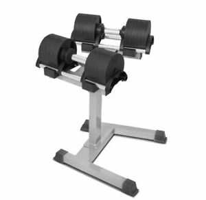 Adjustable Dumbbells 32KG Pair with Stand