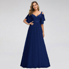New  Formal Ball Long Bridesmaid Evening Chiffon Gown Party Prom Dress Size 6-26